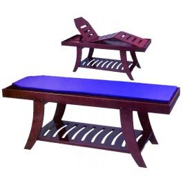 Massagebank hout 3-delig pr22