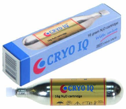 Cartridge 16 gram voor Cryo-stift met klep/valve