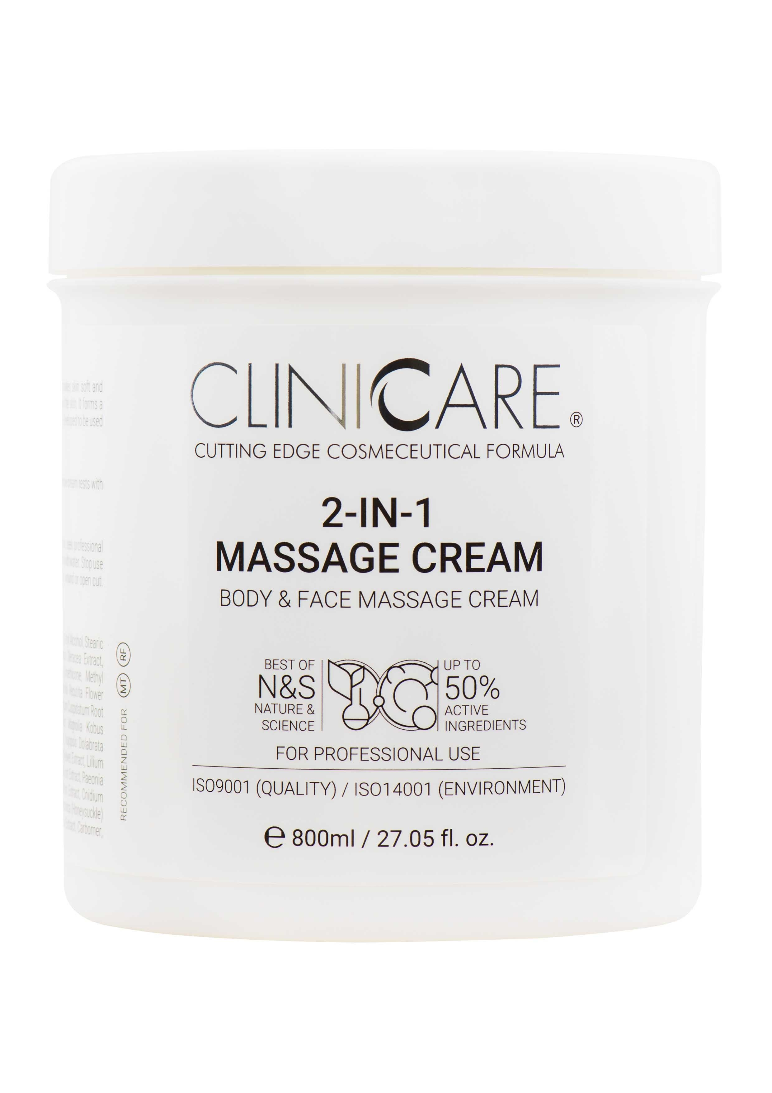 ClinicCare 2in1 Massage Cream - 800 ml