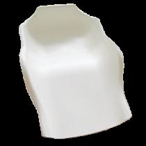 Opvangschaal  Flexibel met inkeping Wit