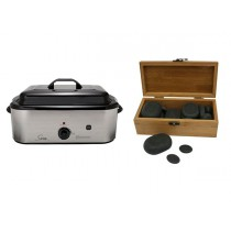 Hot Stone Eco Set: Grote Heater + 30 stenen