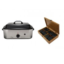 Hot Stone Eco Set: Grote Heater + 50 stenen