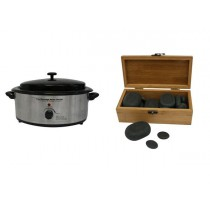 Hot Stone Eco Set: Kleine Heater + 30 stenen