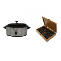 Hot Stone Eco Set: Kleine Heater + 36 stenen