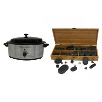 Hot Stone Eco Set: Kleine Heater + 64 stenen